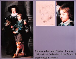Delightful paintings and a drawing of his sons